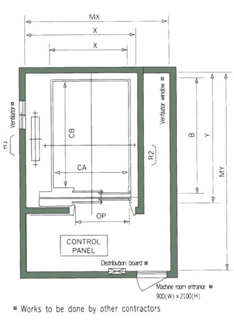 hospital lift dimensions - 340×479